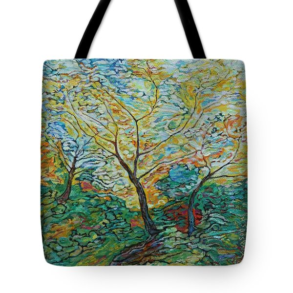 Golden Ash Trees 2 Tote Bag