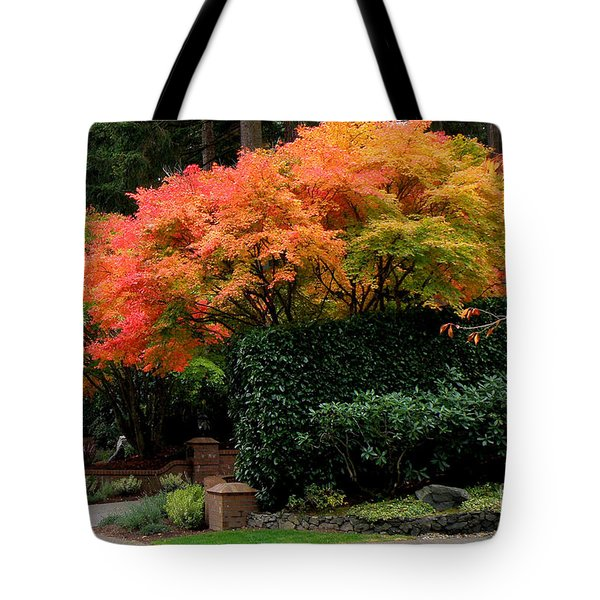 Golden Autumn  3 Tote Bag by Tanya  Searcy