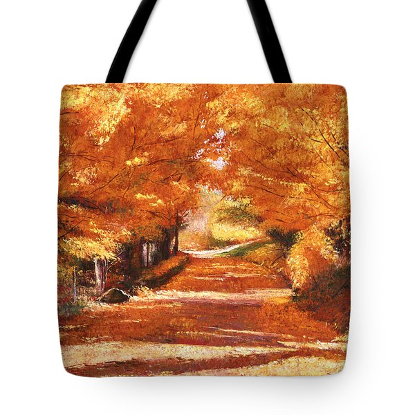 Golden Autumn Tote Bag by David Lloyd Glover