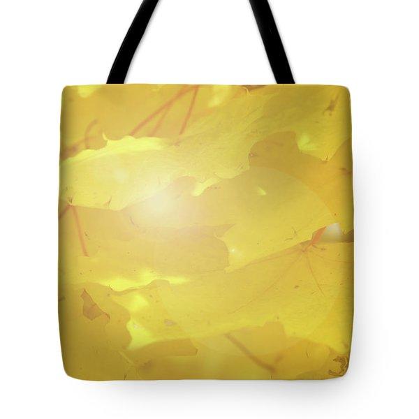 Golden Autumn Leaves Tote Bag