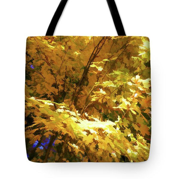 Golden Autumn Scenery Tote Bag by Lanjee Chee