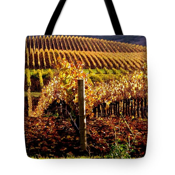 Golden Autumn Vineyard Tote Bag