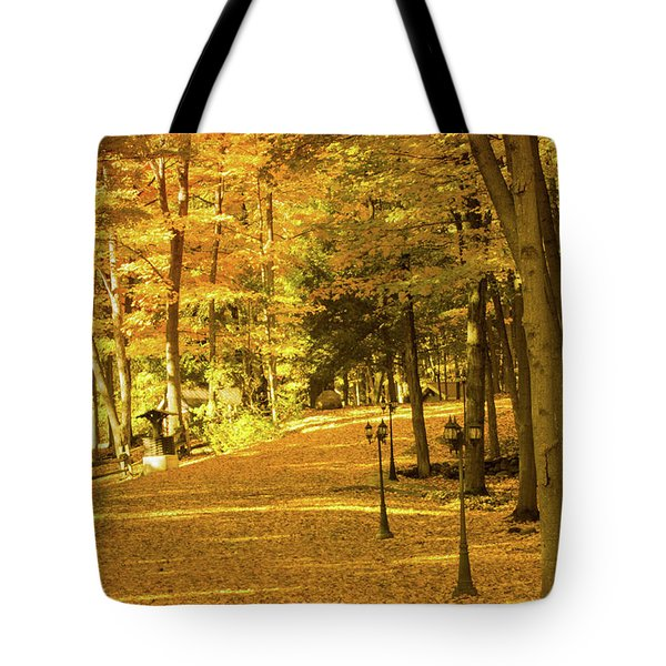 Golden Avenue Tote Bag