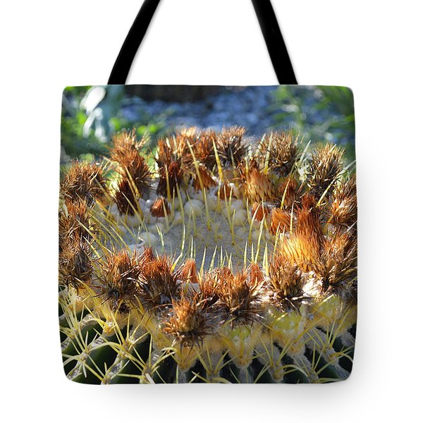 Tote Bag featuring the photograph Golden Barrel Cactus by Glenn McCarthy Art and Photography