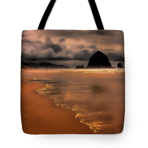 Golden Beach Tote Bag by David Patterson