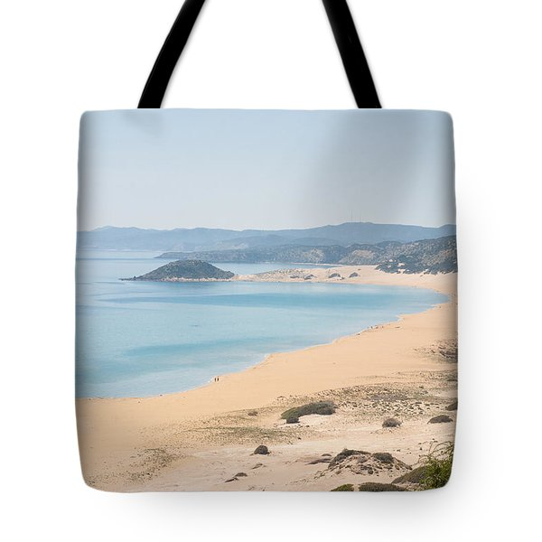 Golden Beach From A High Perspective Tote Bag