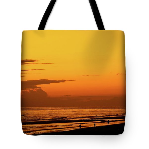 Golden Beach Sunset Tote Bag