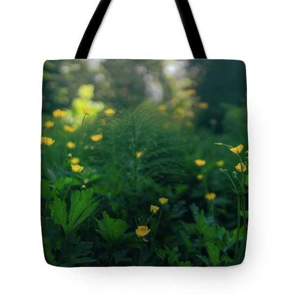 Golden Blooms Tote Bag