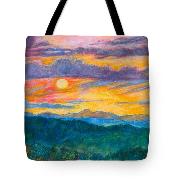 Golden Blue Ridge Sunset Tote Bag