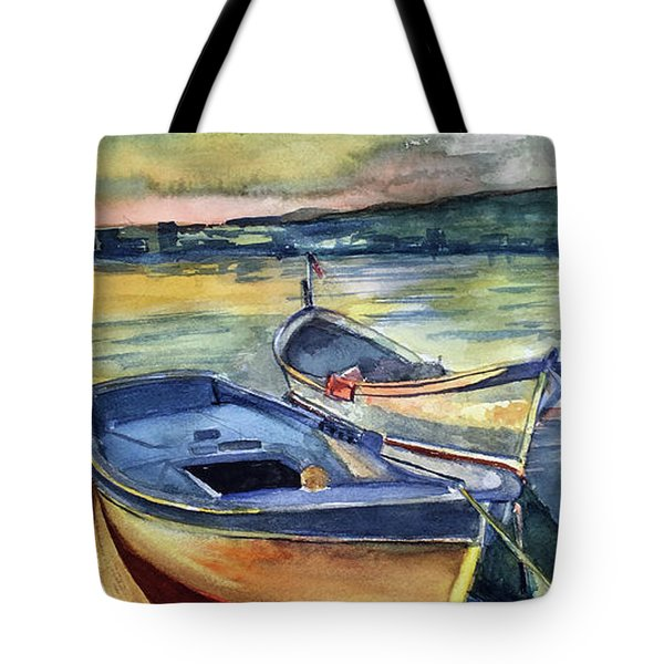 Golden Boats Tote Bag