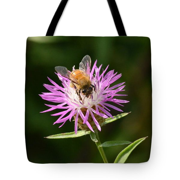 Golden Boy-bee At Work Tote Bag