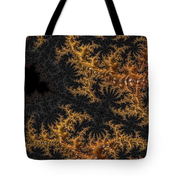 Golden Branching Moss Tote Bag