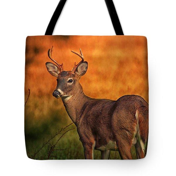 Golden Buck Tote Bag