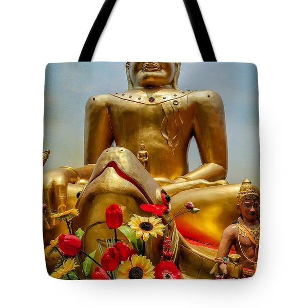 Flowers For Buddha  Tote Bag