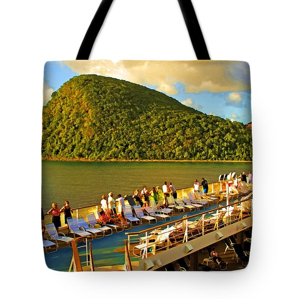 Tote Bag featuring the photograph Golden Caribbean by Dennis Cox WorldViews