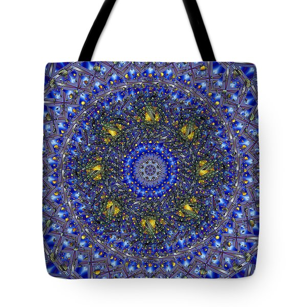 Tote Bag featuring the digital art Golden Celebrations by Mario Carini
