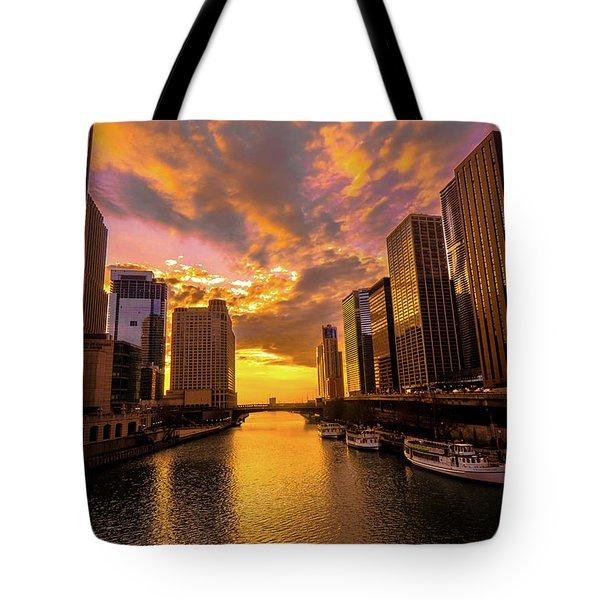 Golden Chi Tote Bag