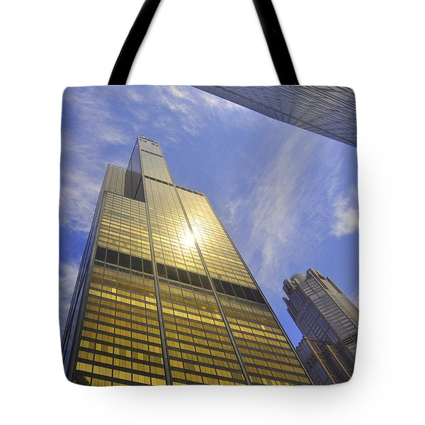 Golden Chicago Tote Bag