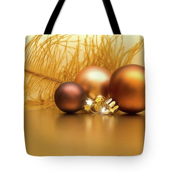 Golden Christmas Tote Bag by Wim Lanclus
