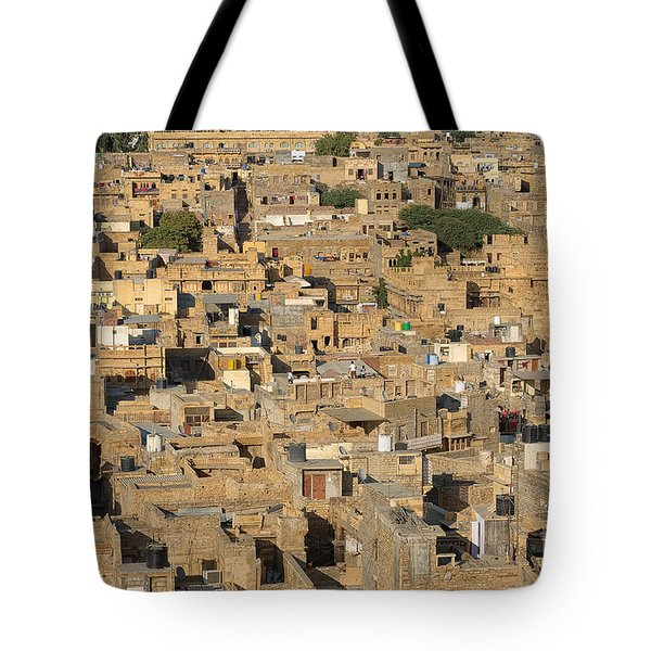 Tote Bag featuring the photograph Golden City Jaisalmer by Yew Kwang