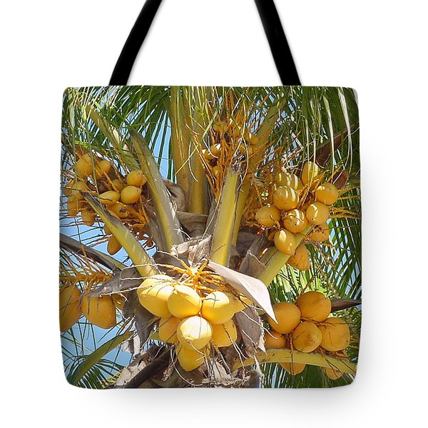 Golden Coconuts Key West Tote Bag