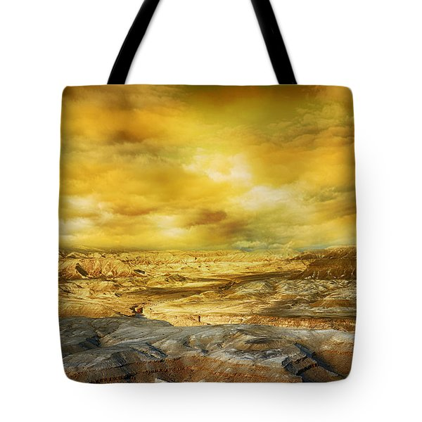 Golden Colors Of Desert Tote Bag