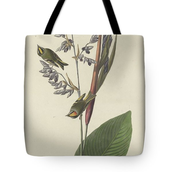 Golden-crested Wren Tote Bag by Dreyer Wildlife Print Collections
