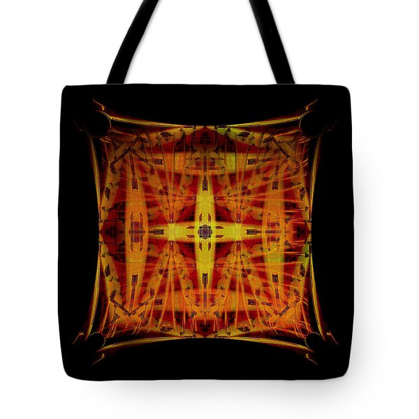 Golden Cross Tote Bag by Gillian Owen