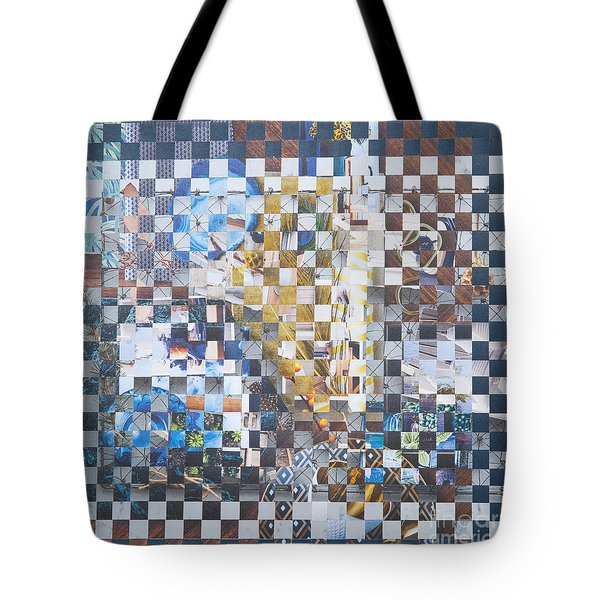 Tote Bag featuring the mixed media Golden Cup by Jan Bickerton