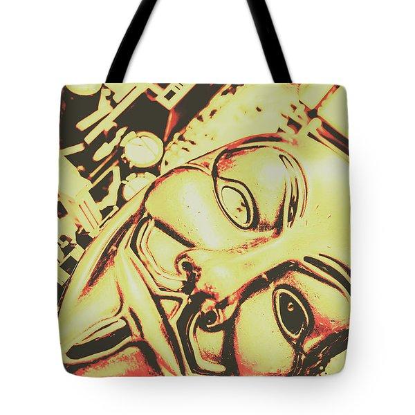 Golden Cyber Rebellion Tote Bag