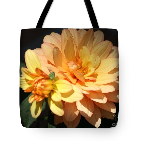 Golden Dahlia With Bud Tote Bag