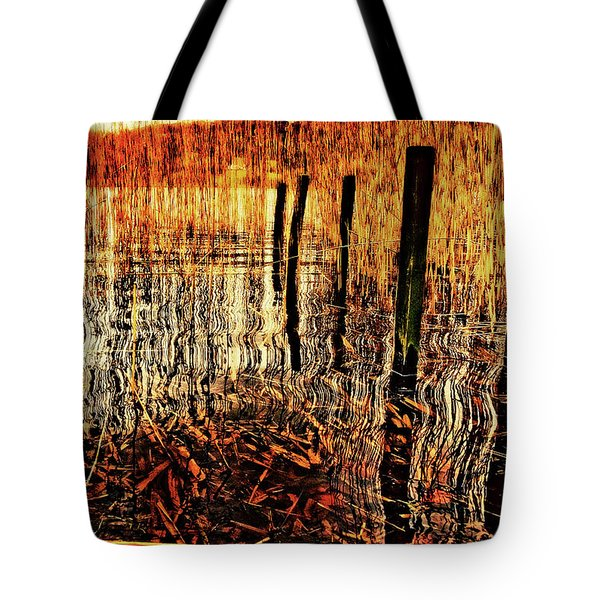 Golden Decay Tote Bag by Meirion Matthias
