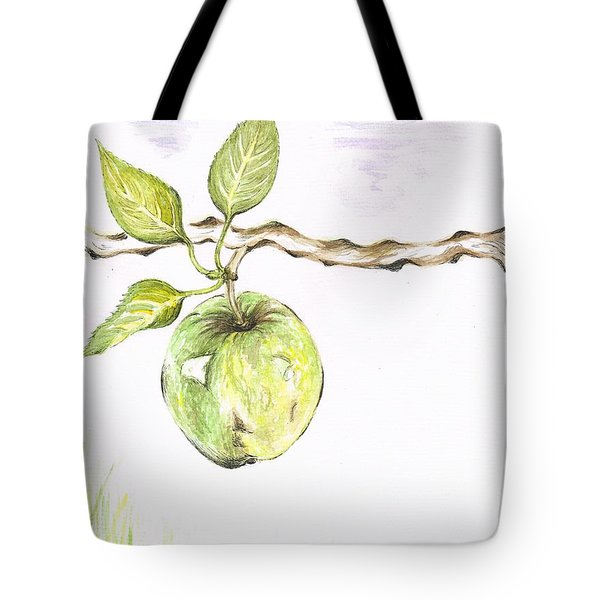 Golden Delishous Apple Tote Bag