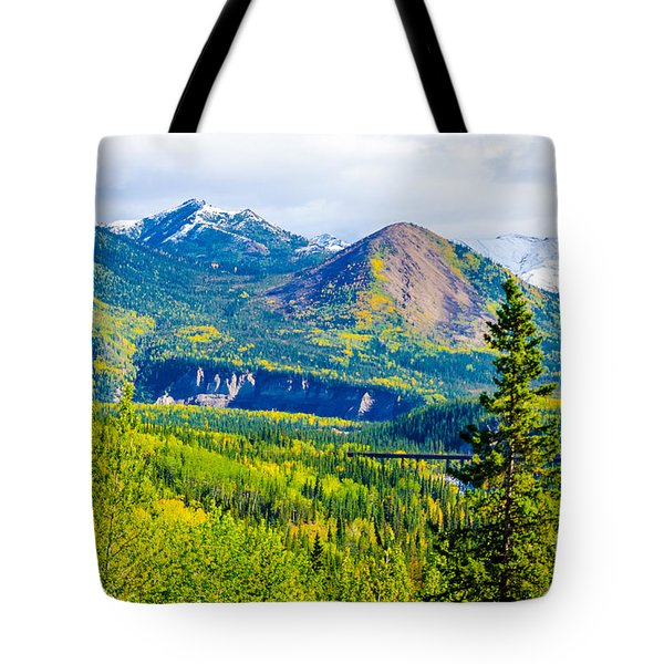 Golden Denali Tote Bag