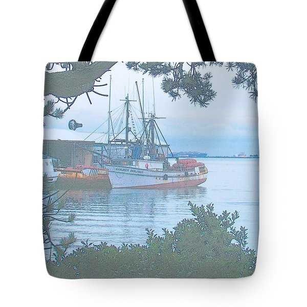 Golden Dolphin Tote Bag