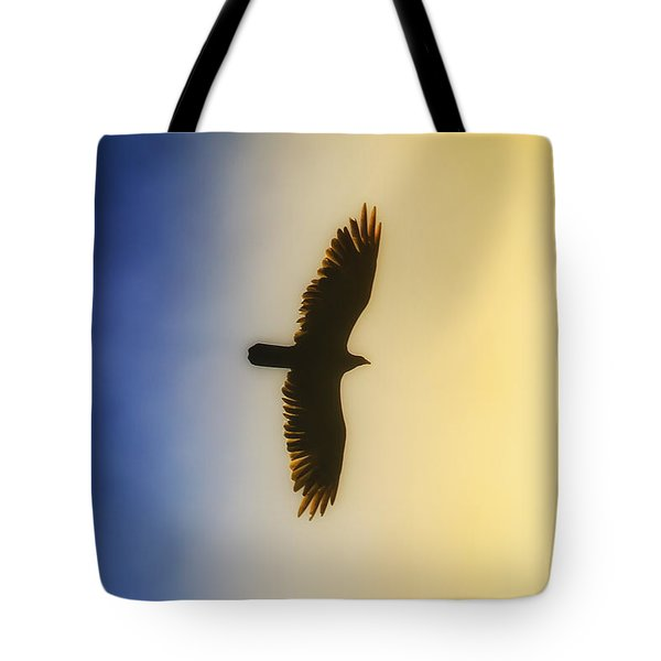 Golden Eagle Over Friday Harbor Tote Bag