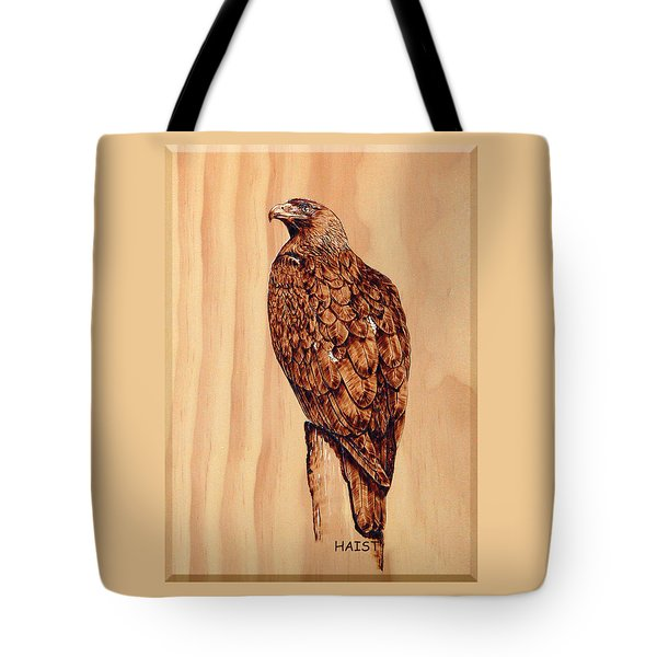 Golden Eagle Tote Bag by Ron Haist