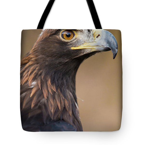 Tote Bag featuring the photograph Golden Eagle by Wesley Aston