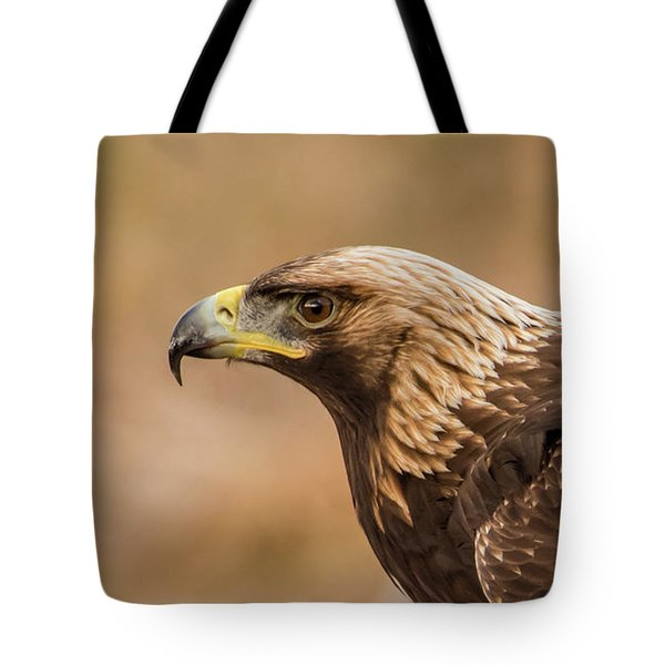Golden Eagle's Portrait Tote Bag by Torbjorn Swenelius