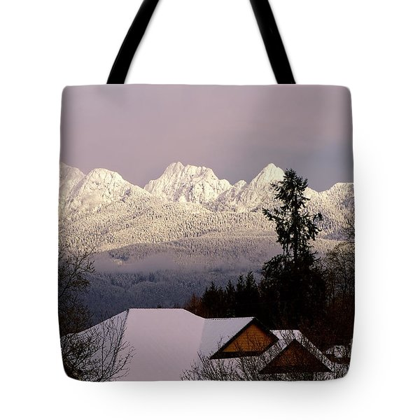 Tote Bag featuring the photograph Golden Ears Mountain View by Sharon Talson