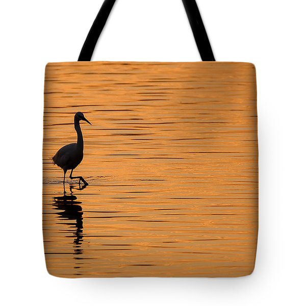 Golden Egret Tote Bag