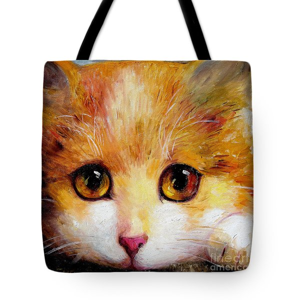 Golden Eye Tote Bag by Shijun Munns