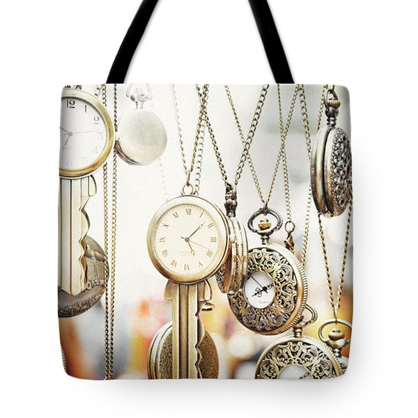 Golden Faces Of Time Tote Bag