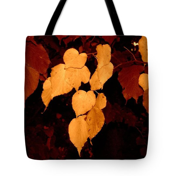 Golden Fall Leaves Tote Bag