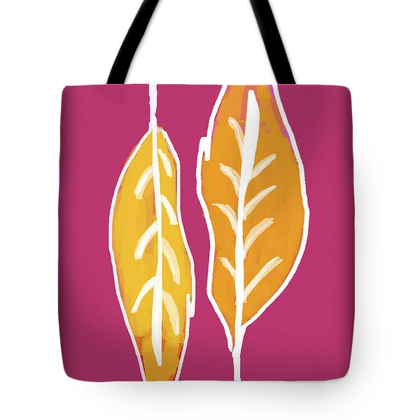 Tote Bag featuring the painting Golden Feathers by Lisa Weedn