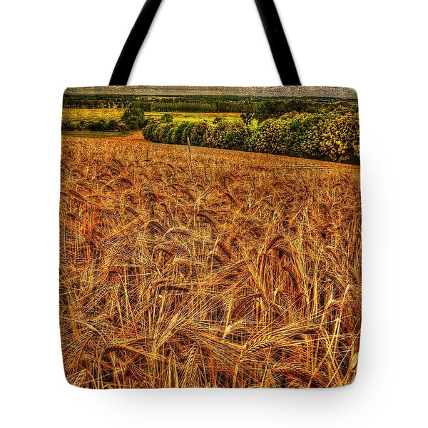 Golden Field In Normandy Tote Bag