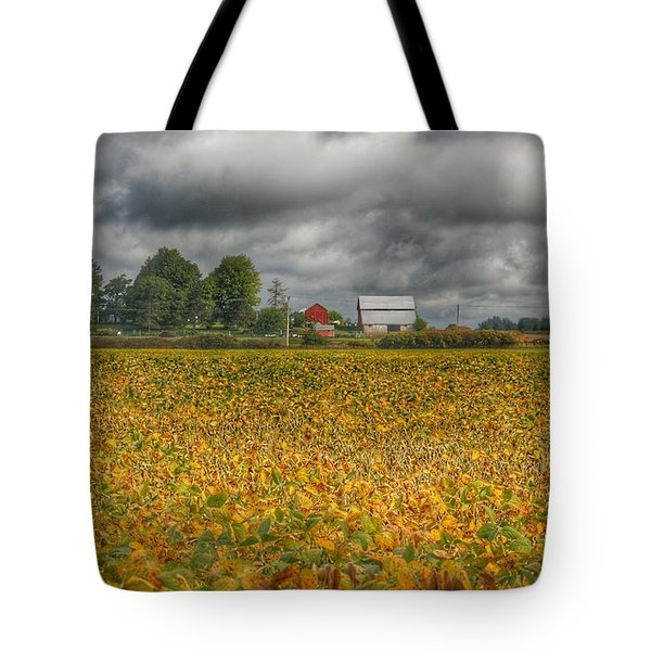 0012 - Golden Fields Farm Tote Bag
