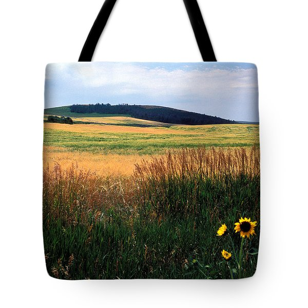 Golden Fields Forever Tote Bag by Kathy Yates