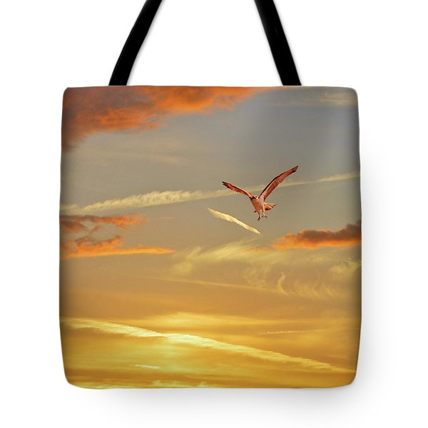 Golden Flight Tote Bag by Adele Moscaritolo