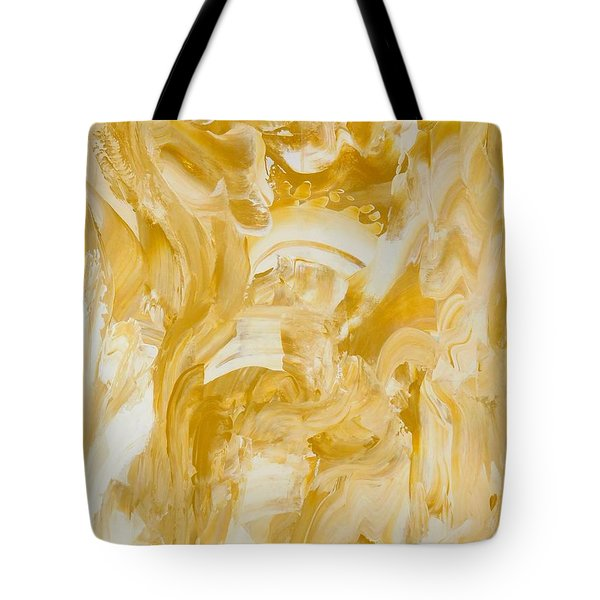 Tote Bag featuring the painting Golden Flow by Irene Hurdle